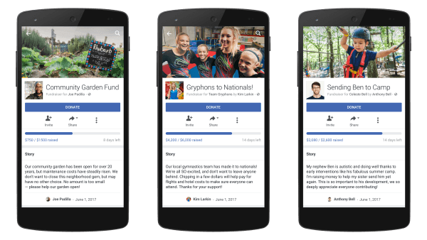 Facebook expands its personal fundraising tool to more users in the U.S.