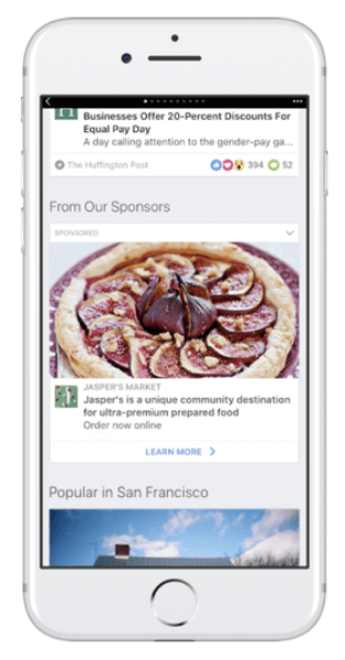 Facebook expands advertising opportunities on Instant Articles.