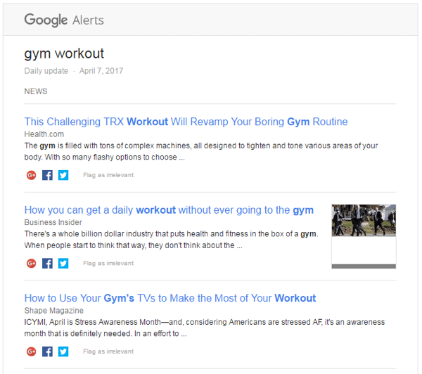 Set up a Google Alert to see who's writing about your industry.