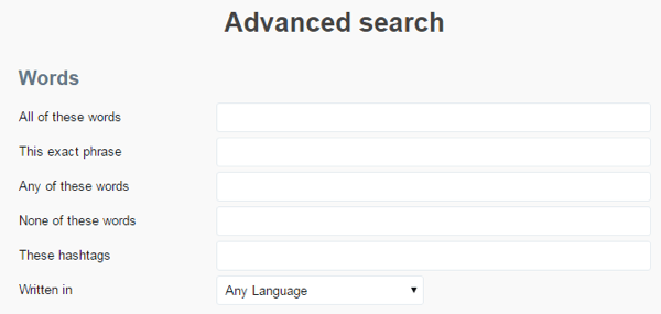 Use Twitter's advanced search to find writers who might be a good fit for promoting your content.