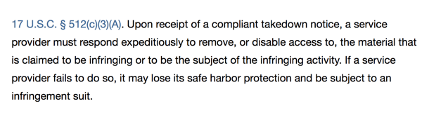 If hosting providers blatantly ignore valid takedown requests, they may be subject to infringement suits, which gives them strong motivation to address requests seriously and promptly.
