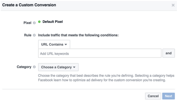When a standard event can't track conversions the way you want, create a custom conversion.