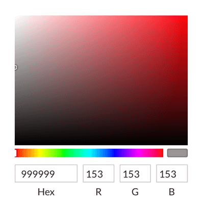 Select colors with the color picker or enter hexadecimal codes.