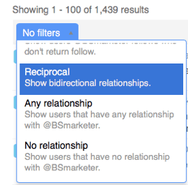 Filter your Twitter followers based on specific criteria.
