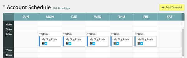 View your MeetEdgar account schedule.