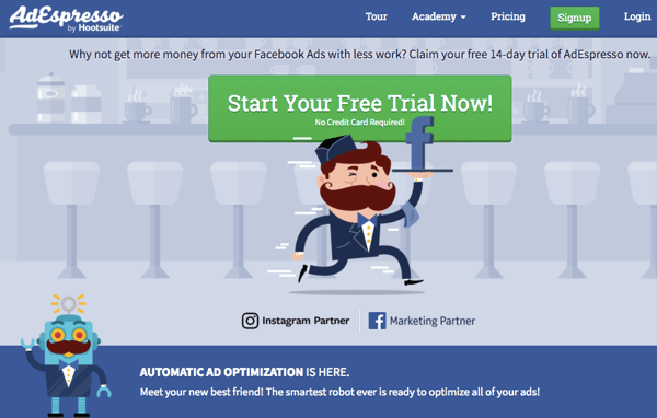 Use AdEspresso to manage all aspects of advanced Facebook ads.