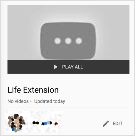 youtube create new playlist
