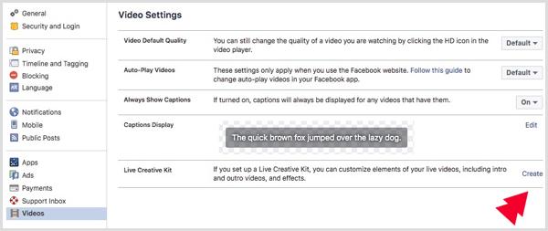 Facebook Live Creative Kit for profile