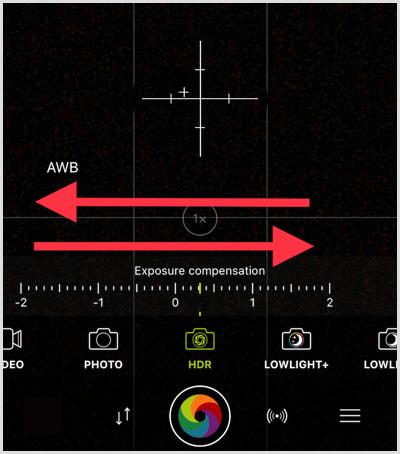 procamera HDR tool adjustment