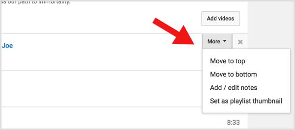YouTube playlist select thumbnail