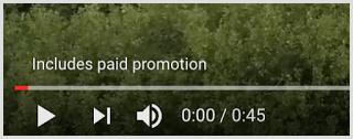 YouTube video disclosure