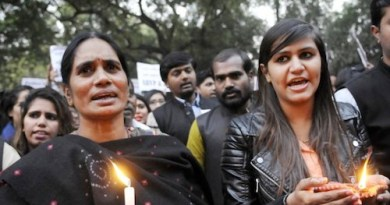 Females protest ... Violence against women is common in India, where one rape is reported every 20 minutes. Picture: Getty.