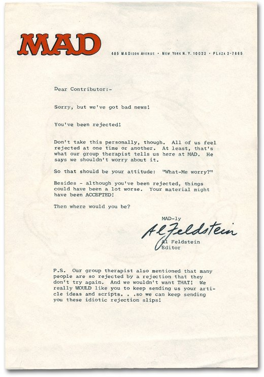 Greatest Employment Rejection Letters EVER! SocialTalent - Employment Rejection Letter