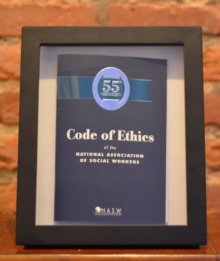 The winner of the NASW Code of Ethics 55th Anniversary Essay Contest