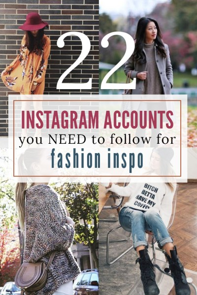22 Instagram Accounts to Follow for Fashion Inspiration ...