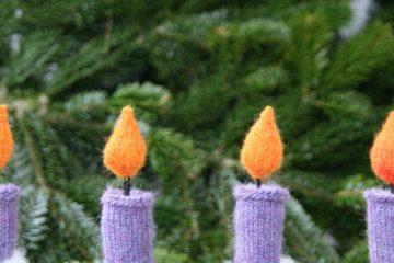 Weihnachtsdekoration selber machen Kerzen auf sockshype