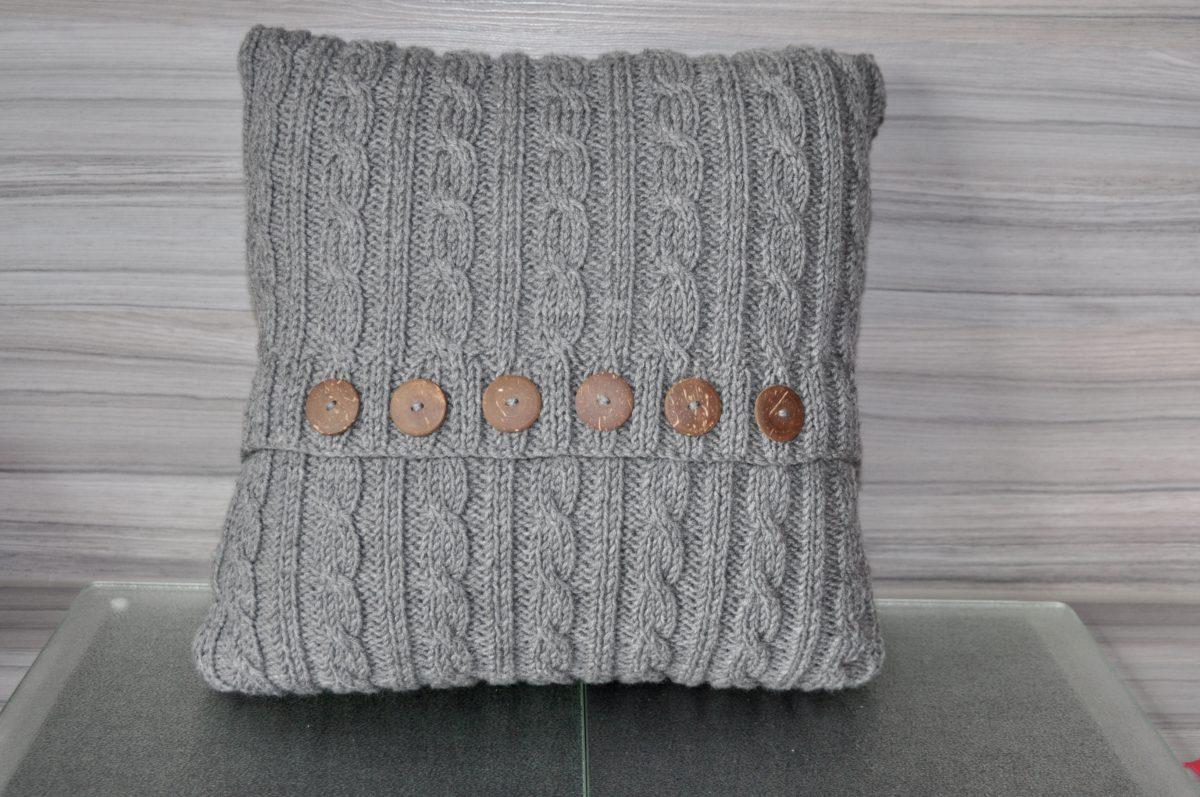leserzusendung kissen stricken sockshype. Black Bedroom Furniture Sets. Home Design Ideas