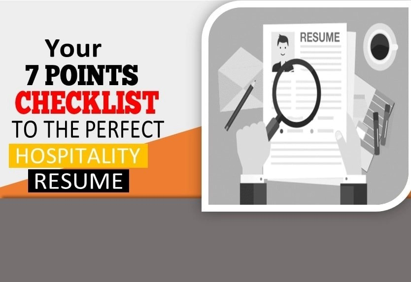7 Point Checklist to a perfect Hospitality Resume Global