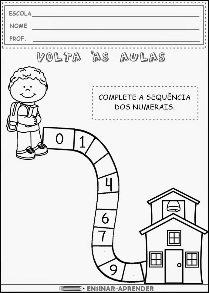 Ficha imprimible de matemáticas para 5 años Tema Secuencia - printable preschool worksheet