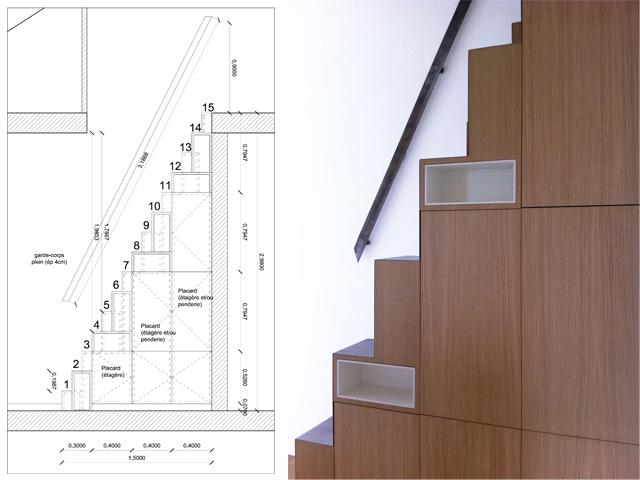 Huset med den grønne dør Lofts, Compact and Spaces - plan d interieur de maison