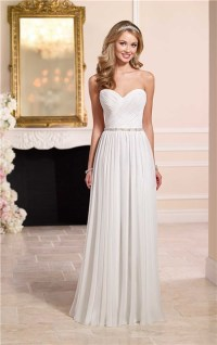 Elegant Sheath Sweetheart Chiffon Beach Wedding Dress ...