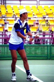 1998アジア競技大会(バンコク)でのユウヨンドン。団体優勝、ダブルス3位