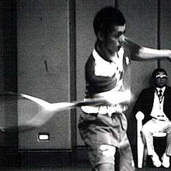1999世界選手権での室谷哲也(当時岡山理大付属)