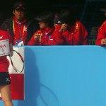 現在 女子団体準々決勝進行中 世界選手権現地レポート
