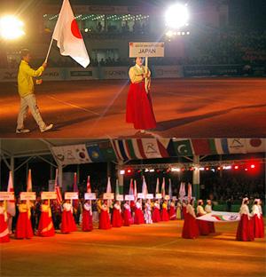 前回2008年アジア選手権の開会式風景 韓国ムンギョン