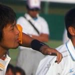 篠原の精悍な顔が大写しに・・・・大会への抱負を真摯に語る姿におもわず箸をとめた・・・・・・全日本選手権プレヴュー