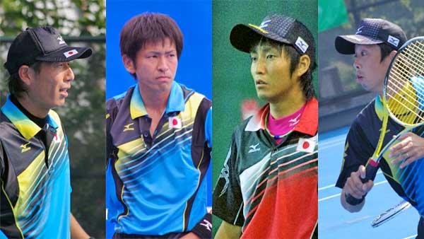 2012アジア選手権代表の4人。水澤、長江、中本、岩崎。中本は2011世界選手権ダブルスチャンピオン。NTT西日本広島には男女あわせて3人の世界チャンピオンがいることになる。