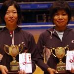 2010東京インドア第50回記念大会 女子準優勝 佐々木・大庭