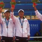 男子ダブルスメダルセレモニー 2010アジア競技大会