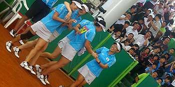 最強だった2007年の韓国女子、団体優勝、ダブルス、シングルスともにワンツーフィニッシュ(世界選手権)。一方この年の日本はチームの入れ替わりの時期、韓国のホームゲームということもあり歯が立たず。
