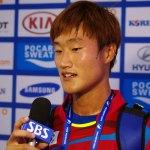 キムヒョンジュン 韓国の2連覇達成 男子シングルス インチョンアジア競技大会