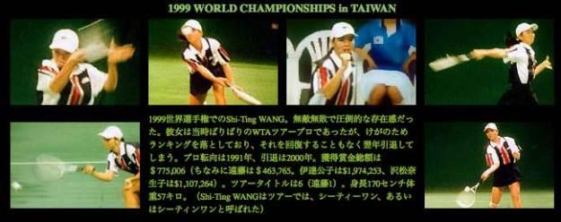 1999世界選手権でのワンスーチン