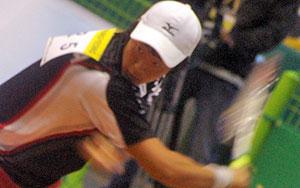2008アジア選手権でのキムドンフン。このときが彼の初国際大会、まさに衝撃的なデヴューだったわけだが、この半年前の王座戦に出場していた。