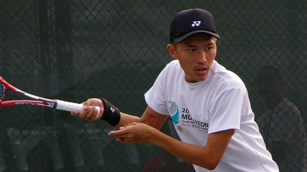 2013東アジア競技大会での林佑澤。