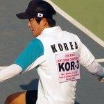 ソフトテニス スーパースローモーションの世界 Super Slow-Motion –FORE HAND YOON Hyun uk (KOR)
