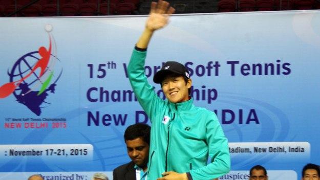 2015世界選手権シングルスのメダルセレモニー