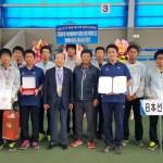 NTT西日本広島が団体 ダブルス(丸中・長江)の二冠!!韓国国務大臣杯