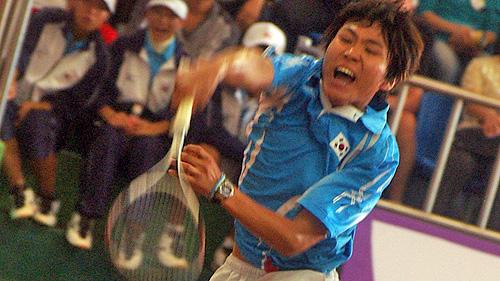 2007世界選手権でのキムジェボク単複個人完全優勝