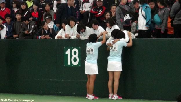 神戸松蔭としては井上・松井以来23年振りの優勝。学生(学連)としては逢野・濱中以来15年となる。松蔭としては3回め、学連としては11回目。 松蔭としての上位進出は2005年の原田・足立のベスト4進出以来11年振り。