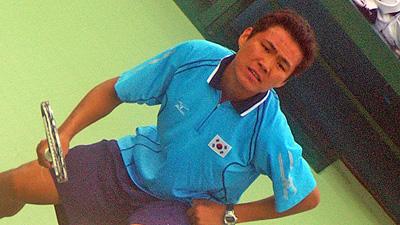 キムジェボク。これは2006ドーハアジア競技大会における撮影