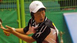 2008アジア選手権シングルス決勝でのキムドンフン。相手は篠原。ドンフンはまだ19歳、国際大会初出場、団体、シングルスの二冠。