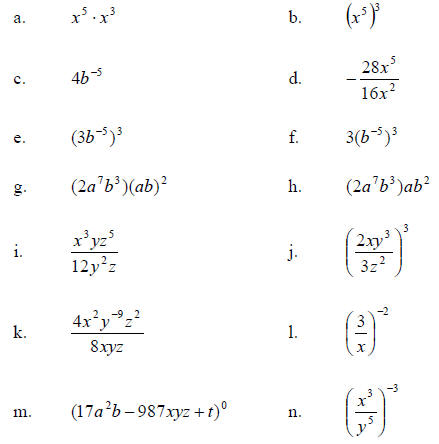 Worksheets Negative Exponent Worksheet exponent worksheet delibertad negative delibertad
