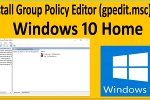 How To Enable Group Policy Editor