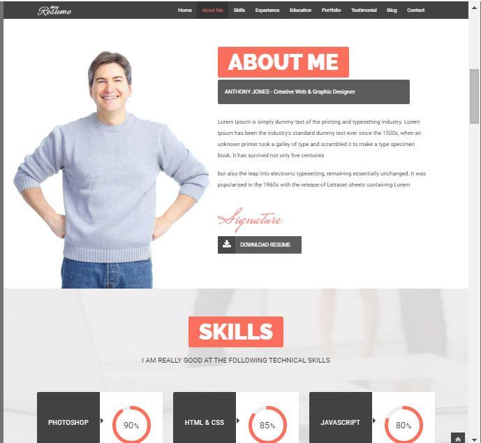 38 Best WordPress Resume Themes 2018 SoftwareFindr - wordpress resume theme