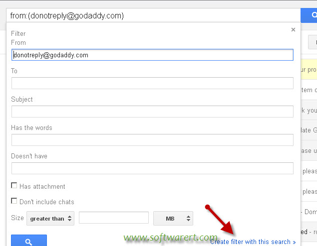 how to set gmail to filter emails to a folder