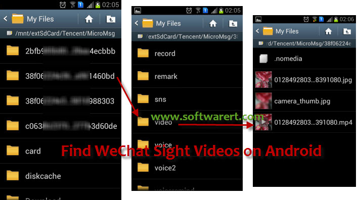 how to find videos on android on computer